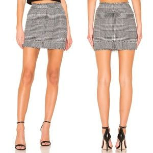 NWT Lovers + Friends Arion Houndstooth Mini Skirt